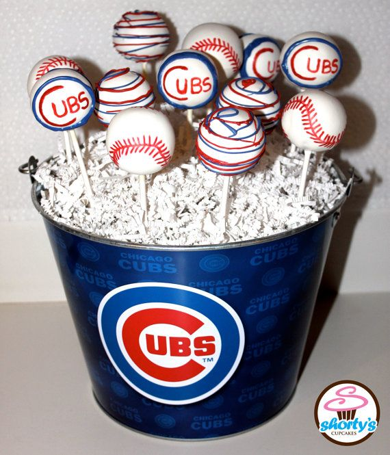 Image result for chicago cubs cake pops