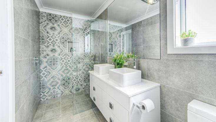 A stunning feature tile can add real character to your bathroom.