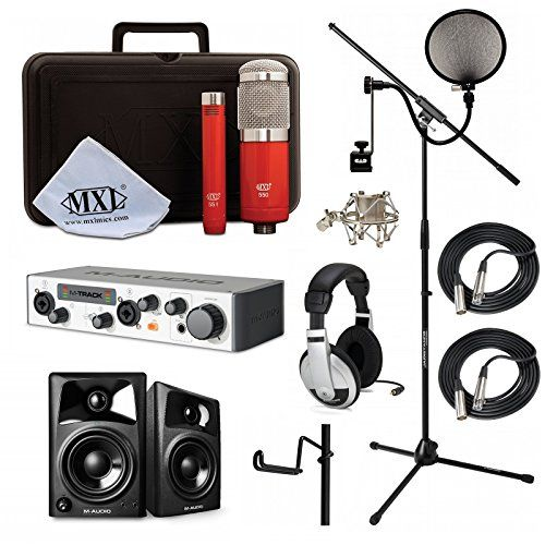 Home Recording Studio Bundle MXL 550/551R HP10 Stand M-Audio M-Track I