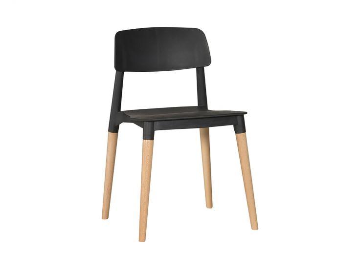 FIKA Stol Svart/Träben i gruppen Inomhus / Stolar / Matstolar hos Furniturebox (100-70-86468)