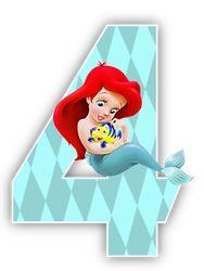 Alfabeto de la Sirenita con Flounder. | Oh my Alfabetos!