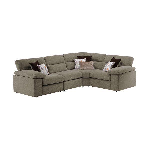 Taupe Fabric Sofas Modular Group 2 Morgan Range Oak Furnitureland Modular Sofa Oak Furniture Land Modular Corner Sofa