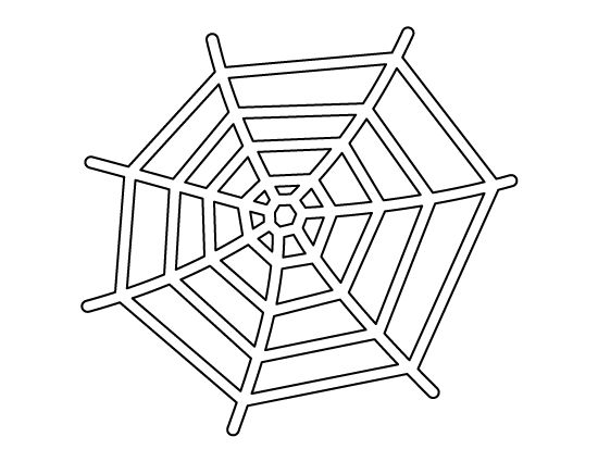 Spider web pattern. Use the printable outline for crafts, creating stencils, scrapbooking, and more. Free PDF template to download and print at http://patternuniverse.com/download/spider-web-pattern/