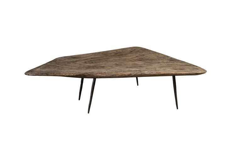 Skipping Stone Coffee Table / Grey Stone, Forged Legs - TH84004