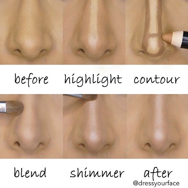 Contouring your nose has never been so easy in these basic steps!  #contour #highlight #nose