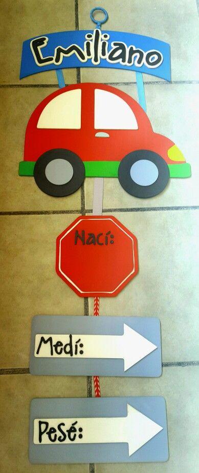 #letrero #hospital #bebé hecho por Muñecas de Papel. Visita nuestra página  en www.facebook.com/munecas.de.papel.puebla