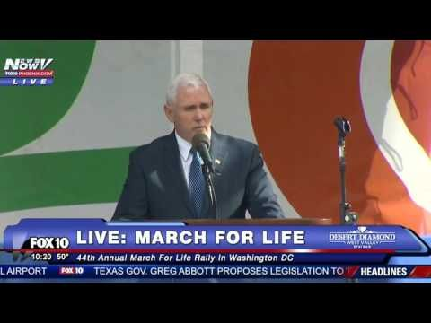 wow- PTL - WATCH: Vice President Mike Pence Speech March For Life 2017 Washington DC - YouTube