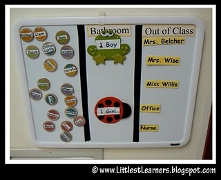 cute idea for keeping track of students at a glance