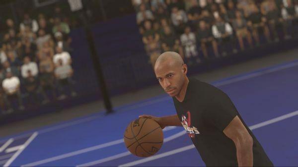 Thierry Henri se met au basket dans le nouveau NBA 2K7