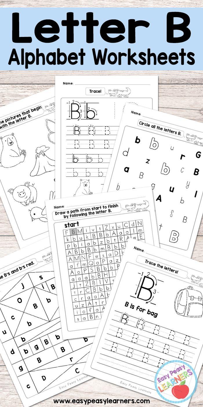 Free Printable Letter B Worksheets - Alphabet Worksheets Series