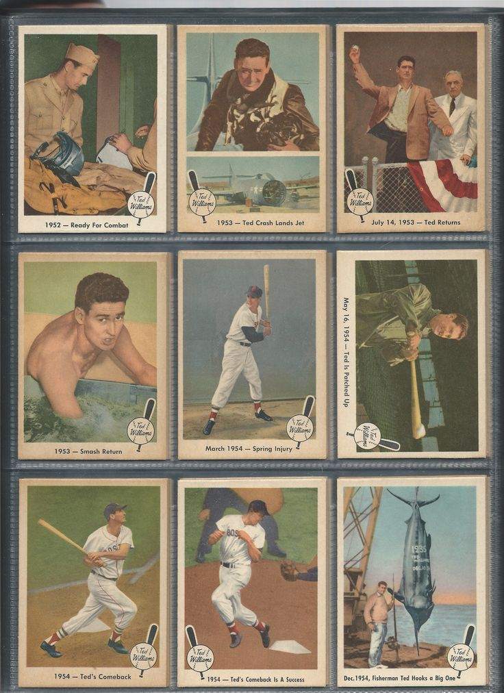 1959 fleer ted williams cards 4654 with images ted