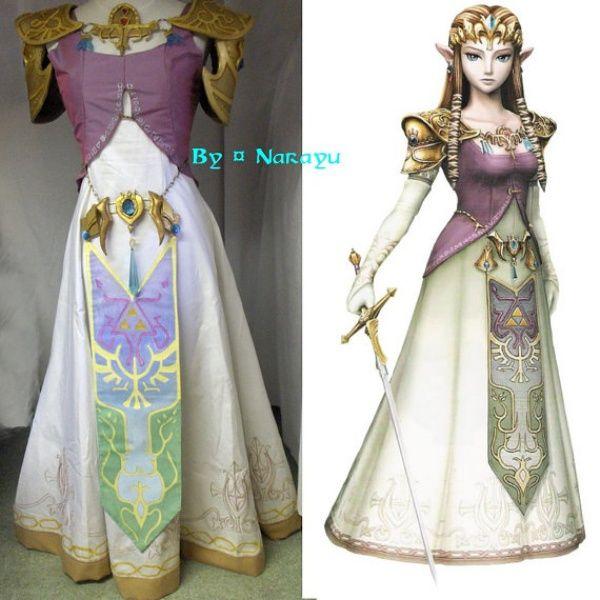 Princess zelda costume geekery pinterest zelda for Legend of zelda wedding dress