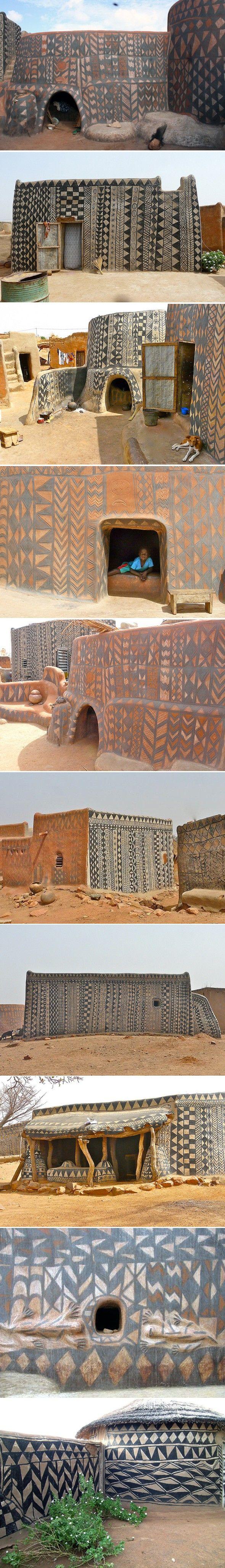 Maisons peintes au Burkina Faso - Journal du Design