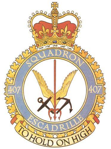 407 Squadron Badge - The Canadian Navy - ReadyAyeReady.com