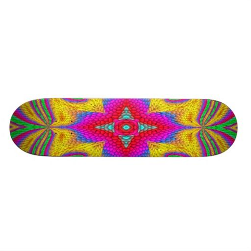 Colorful multicolored abstract pattern skate deck