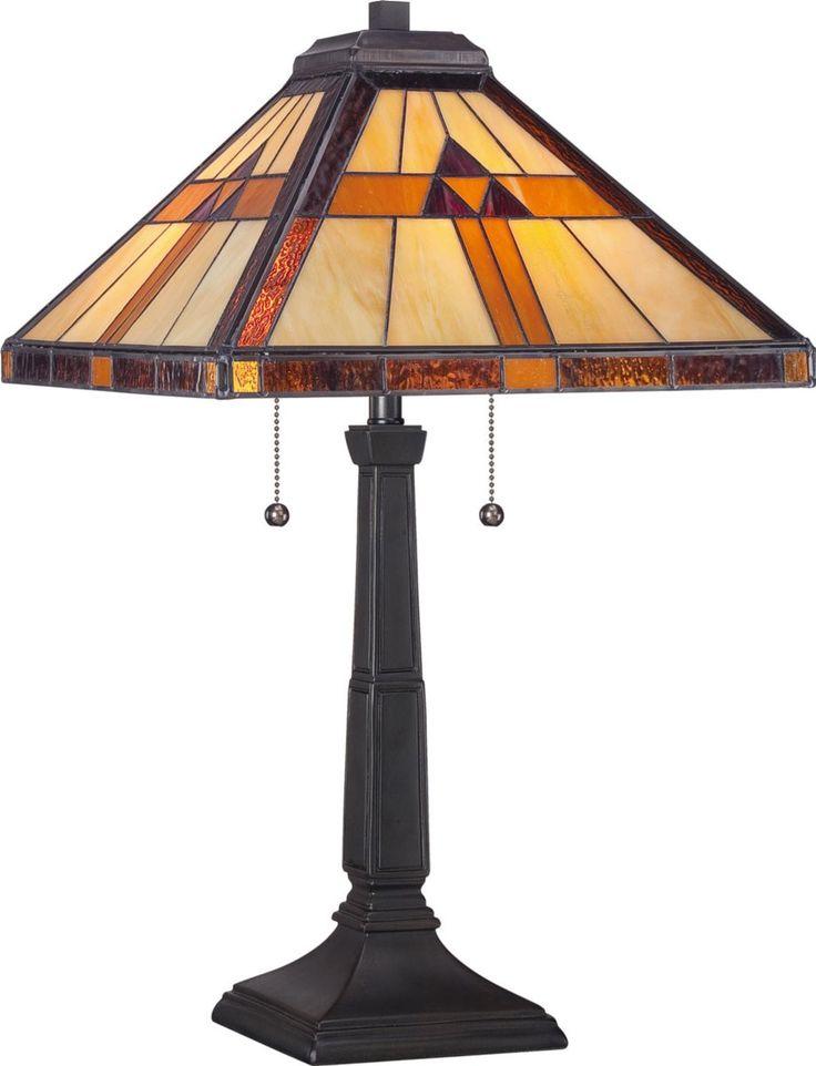 Quoizel tiffany 2 light table lamp bronze patina tf1427t lampsusa