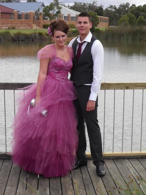 Pink-purple princess style gown http://www.arcarocouture.com.au/