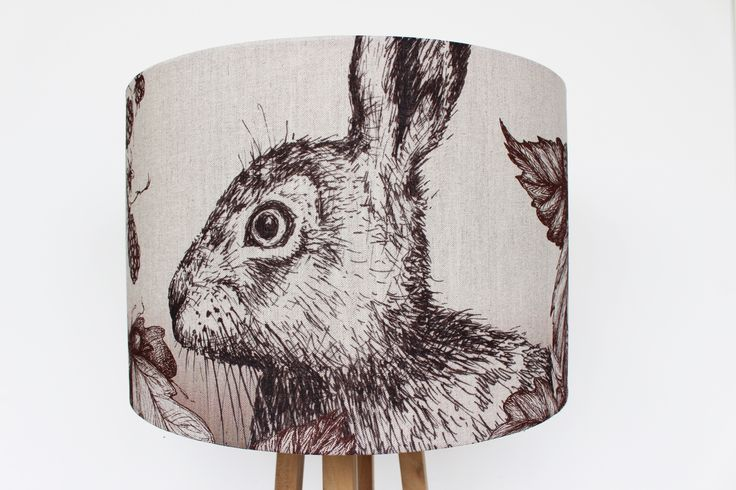 Our Hare and Berry lamp shade is new in stock this week. Available in a variety of sizes. http://www.waringsathome.co.uk/hare-and-berry-shade.html