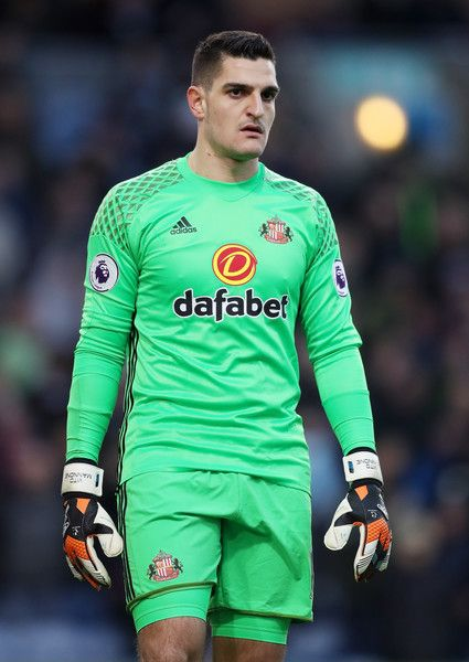 Vito Mannone of Sunderland looks on during the Premier League match between Burnley and Sunderland at Turf Moor on December 31, 2016 in Burnley, England.
