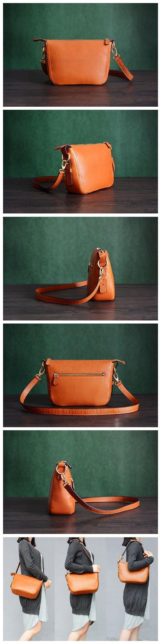 Custom Handmade Itanlian Vegetable Tanned Leather Messenger Shoulder Bag Men Satchel