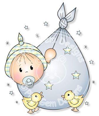 Digital Digi Baby Boy Bundle Stamp by PinkGemDesigns on Etsy, $2.70