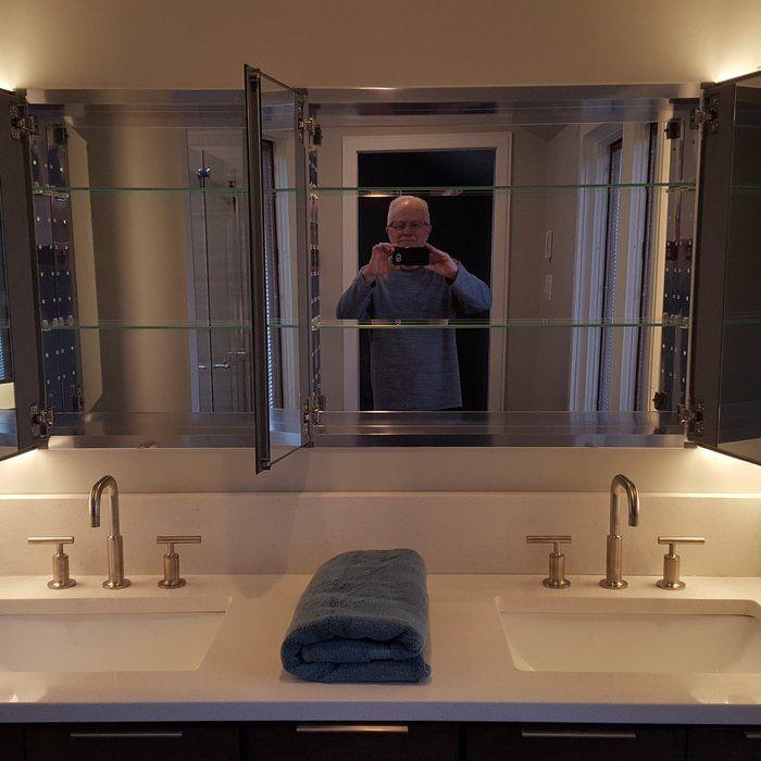Fresca 49 X 26 Recessed Or Surface Mount Frameless Medicine Cabinet With 4 Adjustable Shelves Adjustable Shelving Bathrooms Remodel Bath Remodel