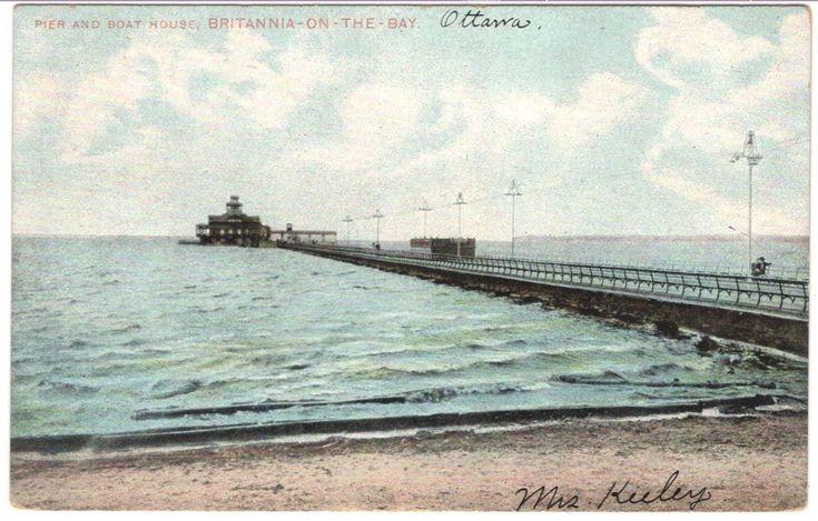 Post Card: REID, BRITANNIA CANOE CLUB PIER & BOATHOUSE, REID, OTTAWA, ON F78   eBay