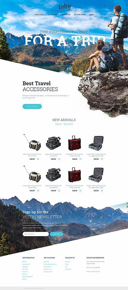 Template 58385 - Veltry Travel  Responsive PrestaShop  Theme