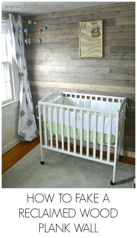 I love this plank wall and the grey color. It would be really pretty in a nursery.