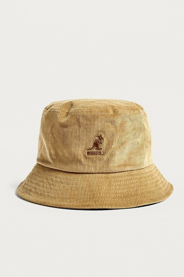 Slide View  2  Kangol Beige Corduroy Bucket Hat 694393746e3