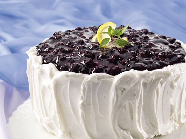 Blueberry-Lemon Cake - Canned pie filling creates the fruity wow for an easy layer cake.
