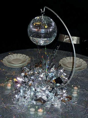 Mirror ball decorations for R b party decorations