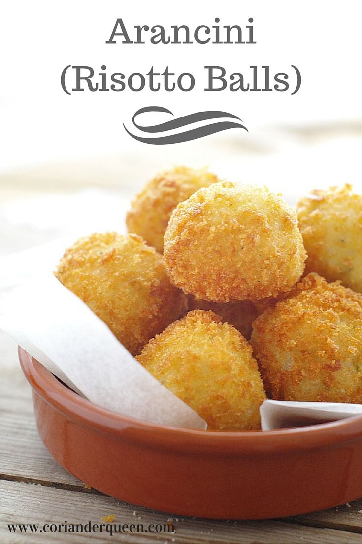 Delicious golden arancini, the perfect way to use up leftover risotto! (They are super easy and quick to make!)