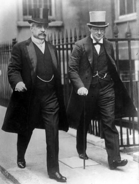 "schlieffen:    ""Canadian Prime Minister Robert Borden and Winston Churchill (then First Lord of the Admiralty) in 1912. Location unknown."" (Bibliothèque nationale de France)"