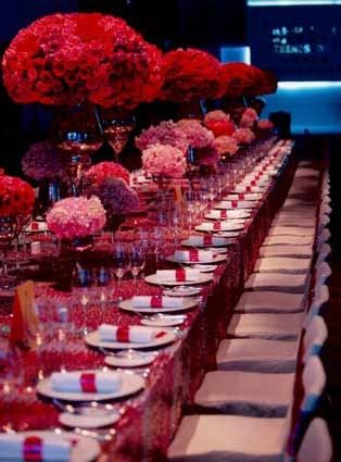 Fuchsia Sequin Tablecloth, Fuchsia Sequin Linen (Available for Rent or Purchase)