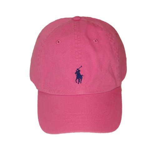 Polo Ralph Lauren Pony Logo Hat Cap Pink with Navy pony