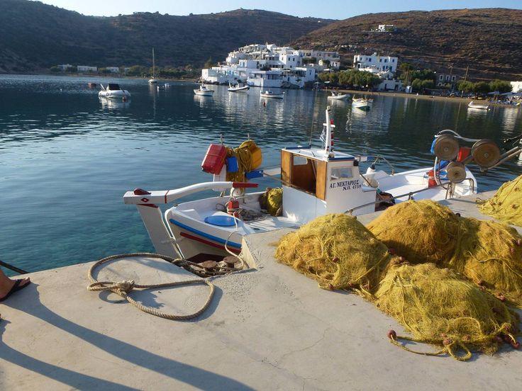 #Faros #Glipho #boats #trailnets #Sifnos #Cyclades
