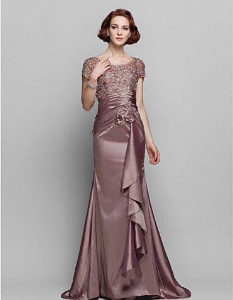 Платья новая мода 2014 платья партии специальные короткие рукава длинные повседневные платья кружева элегантный мать Невесты Платья