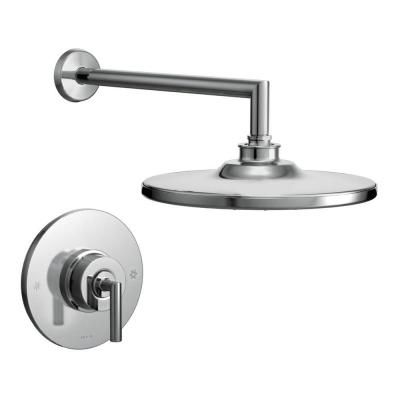 Images Of MOEN Arris Single Handle Posi Temp Eco Performance Shower Faucet Trim Kit in Chrome