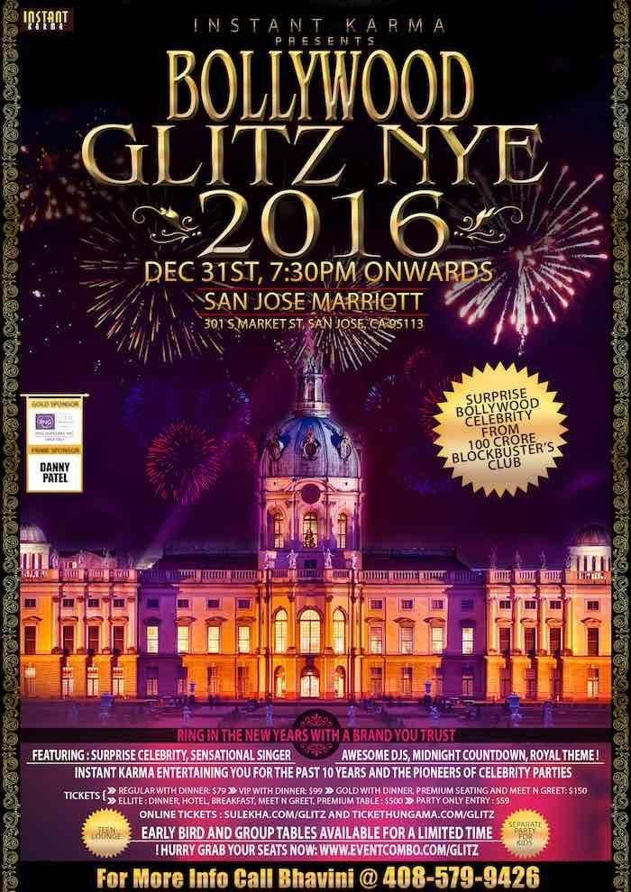 Bollywood Glitz New Year Eve 2016 At San Jose Mariott 301 S Market Street