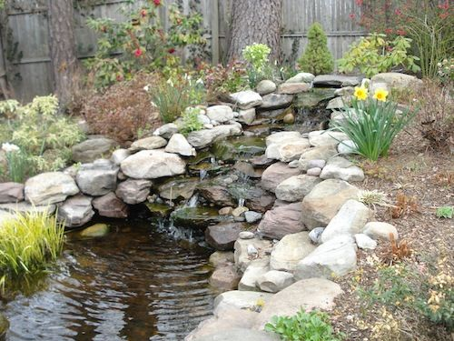 Backyard landscape waterfall designs washington dc | Johnson's Landscaping Service