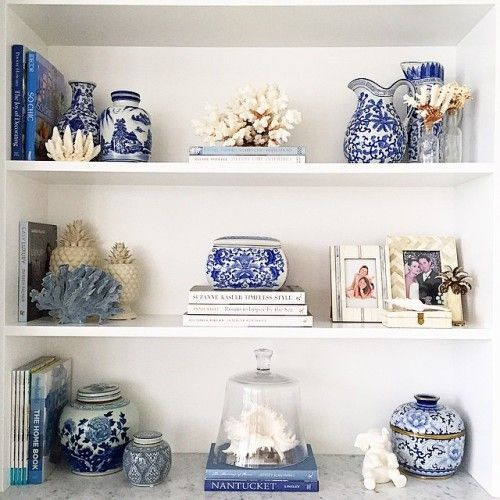 Decorating With Blue and White Ceramics: Gallerie B