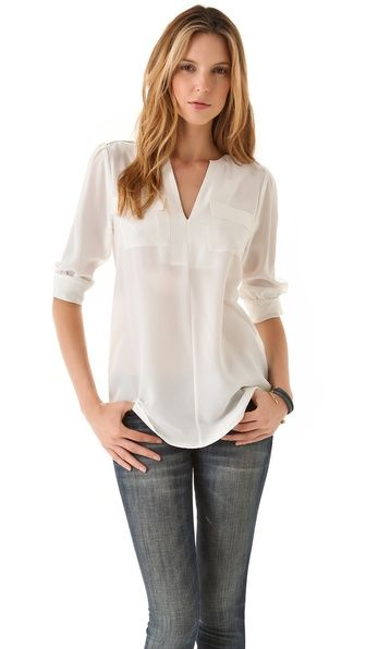 Basic Casual perfection. Joie Marlo Blouse, I love the simplicity of this style blouse, it'll never go out of style.