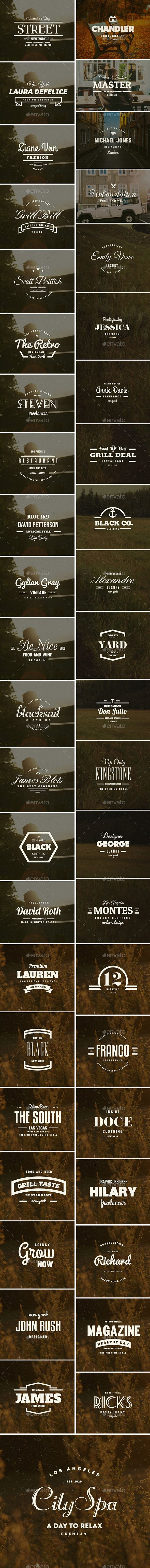 45 Vintage Labels & Badges Logos Bundle #design Download: http://graphicriver.net/item/45-vintage-labels-badges-logos-bundle/11921321?ref=ksioks