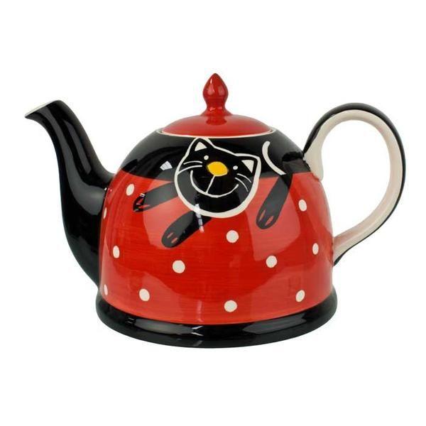 Zeleny Strom Red Cat Teapot 1.8L | Koop.co.nz