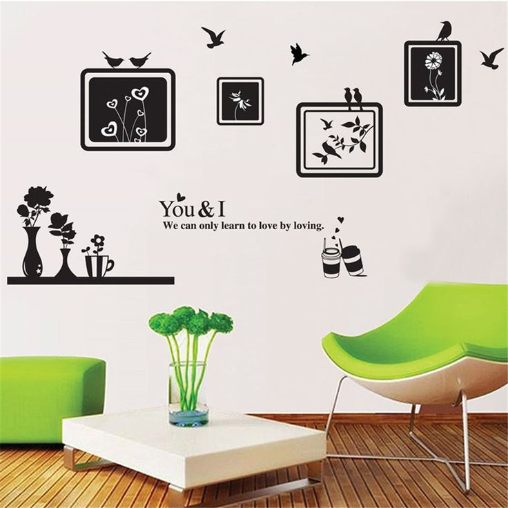 Photo Birds Flowers Home Room Decor Removable Wall Sticker Decal Decoration #AE