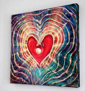 """Light of Love"" - Feng Shui Original Painting by world renowned artist Elena Khomoutova"
