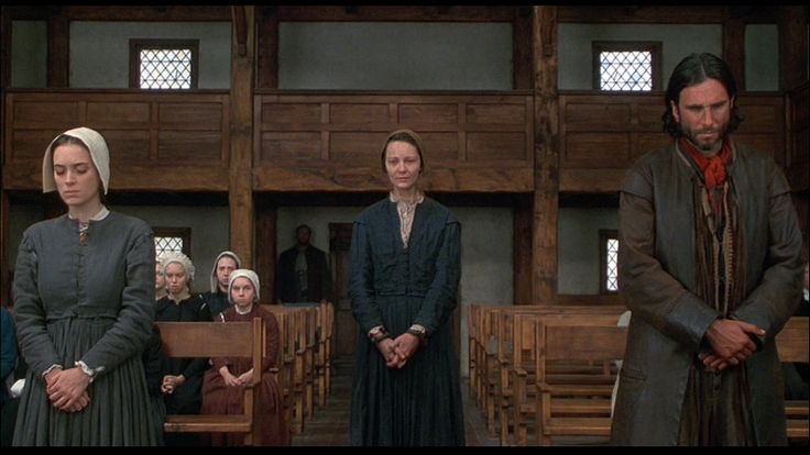Winona Ryder, Joan Allen, and Daniel Day Lewis in The Crucible