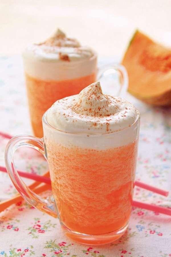 Cappuccino glacé au melon.  15 recettes faciles et innovantes pour servir du melon