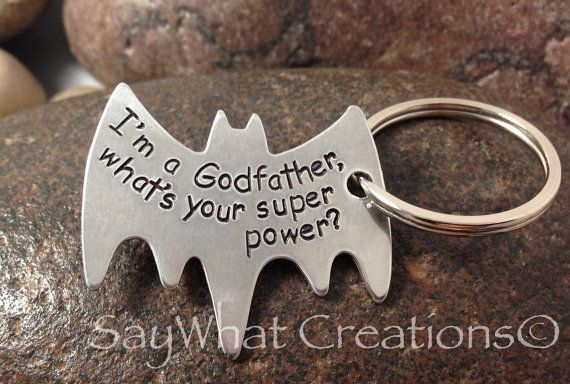 Superhero Key Chain I'm a godfather what's by SayWhatCreations, $28.00